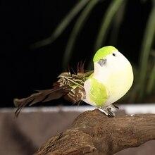 12 шт. искусственный имитирующий Птица Мини Попугай реквизит птица ручной работы ультра легкий попугай для дома Спальня Фея садовый декор