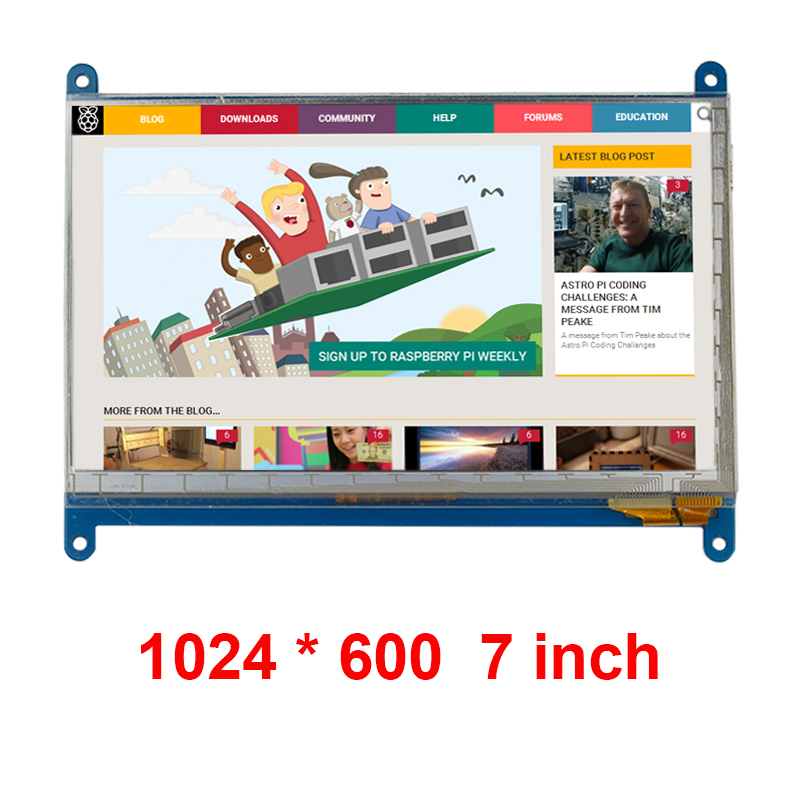 7 inch Raspberry Pi 3 Touch Screen 1024*600 7 inch Capacitive Touchscreen LCD HDMI Interface TFT Display support Raspberry Pi 2