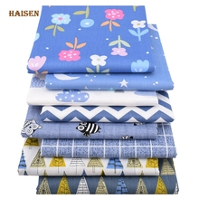 Haisen,8pcs/lot,Cartoon forest Series,Printed Twill Cotton Fabric,telas patchwork Cloth,DIY Sewing&Quilting Material For Baby&Ch