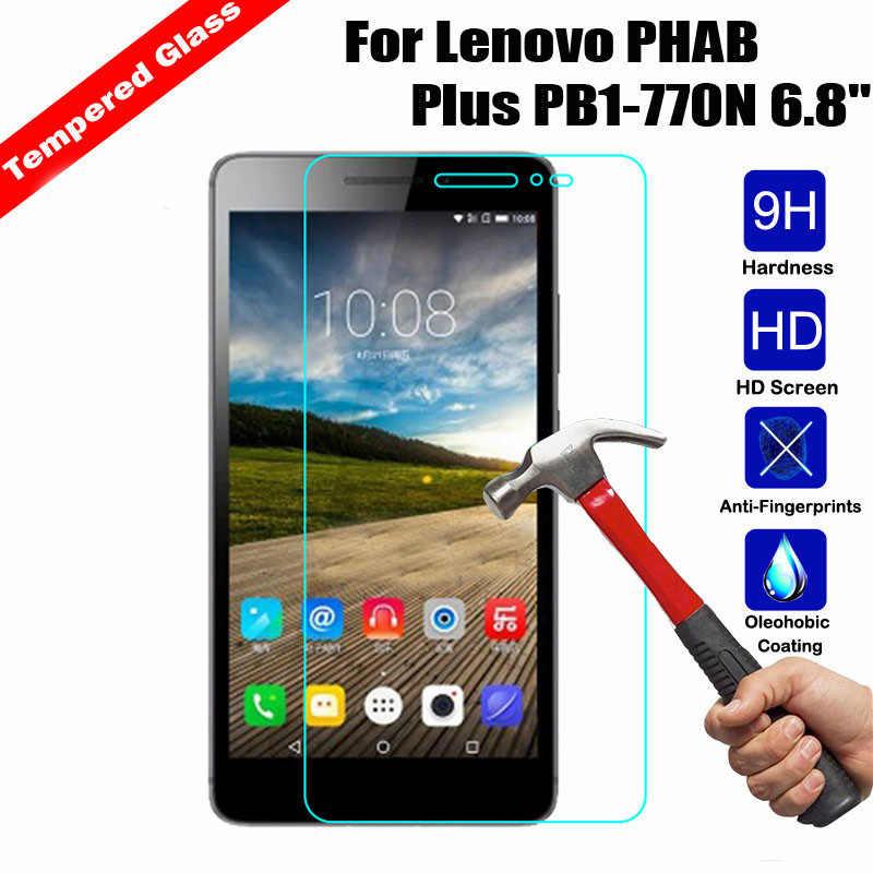 """กระจกนิรภัยสำหรับLenovo Phab 1 Plus PB1-770N PB1 770 770N 6.8 """"หน้าจอแท็บเล็ตป้องกันฟิล์มด้านหน้าโปร่งใสแก้ว9H"""