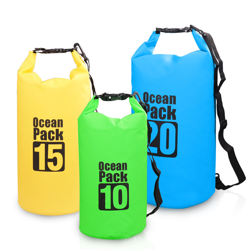 5L 10L Outdoor Sports Waterproof Bags Swimming Camping Hiking Drifting Bag Swimming pool Accessories With Shoulder Strap 6 color