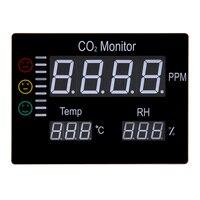 ЖК дисплей цифровой углекислого газа CO2 монитор стену воздуха Температура метр RH 9999PPM Газоанализаторы Температура влажность тестер