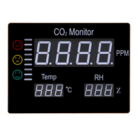 LCD Digital Carbon Dioxide CO2 Monitor Wall Mount Air Temperature Meter RH 9999PPM Gas Analyzers Temperature Humidity Tester