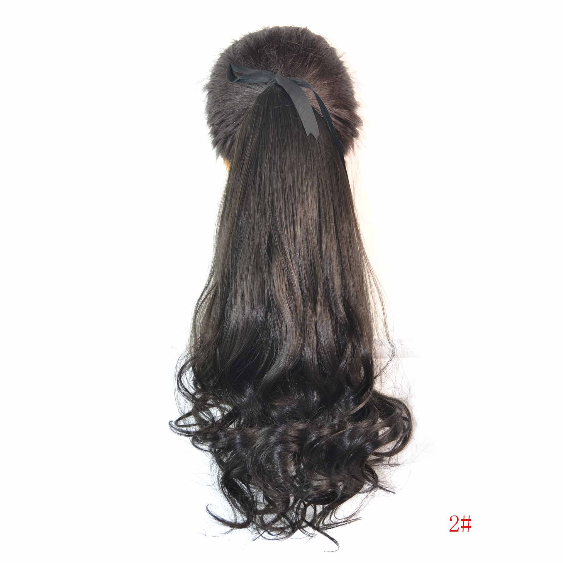 Hot sale hair accessories 100g 45cm hair jewelry extension synthetic curly hairwear for womens fashion ponytails