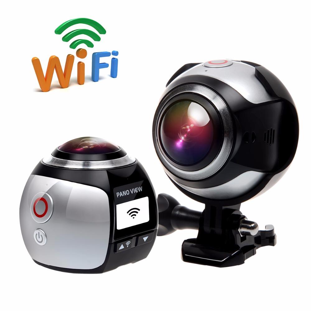 Prix pour Campark 16MP 3 K (2448*2448/30fps) 360 Degrés Panoramique VR Camera Action Avec 16 GB carte, soutien 3D, WIFI, avec VR Casque Verre