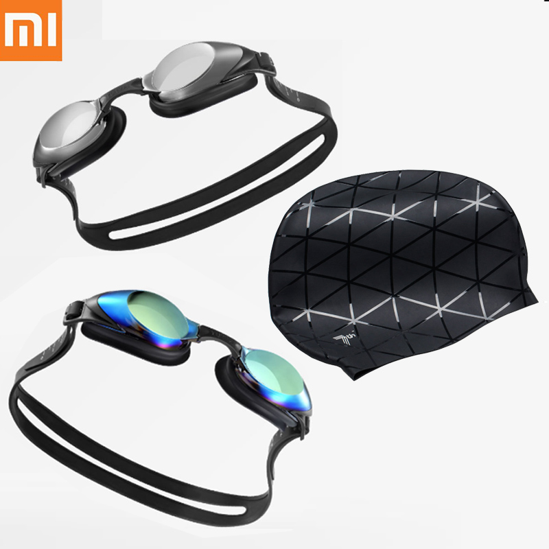 Xiaomi Yunmai Fashion Swimming Glasses Professional HD Anti-fog Swimming Goggles With Nose Clip Earplugs Cap Adult Eyewear H33