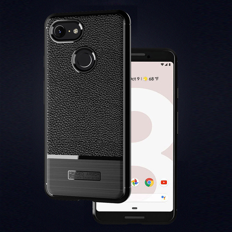 Litchi Leather Pattern Phone Case For Google Pixel 3XL Case Slim Silicone Anti-Knock Cover For Google Pixel3 Case