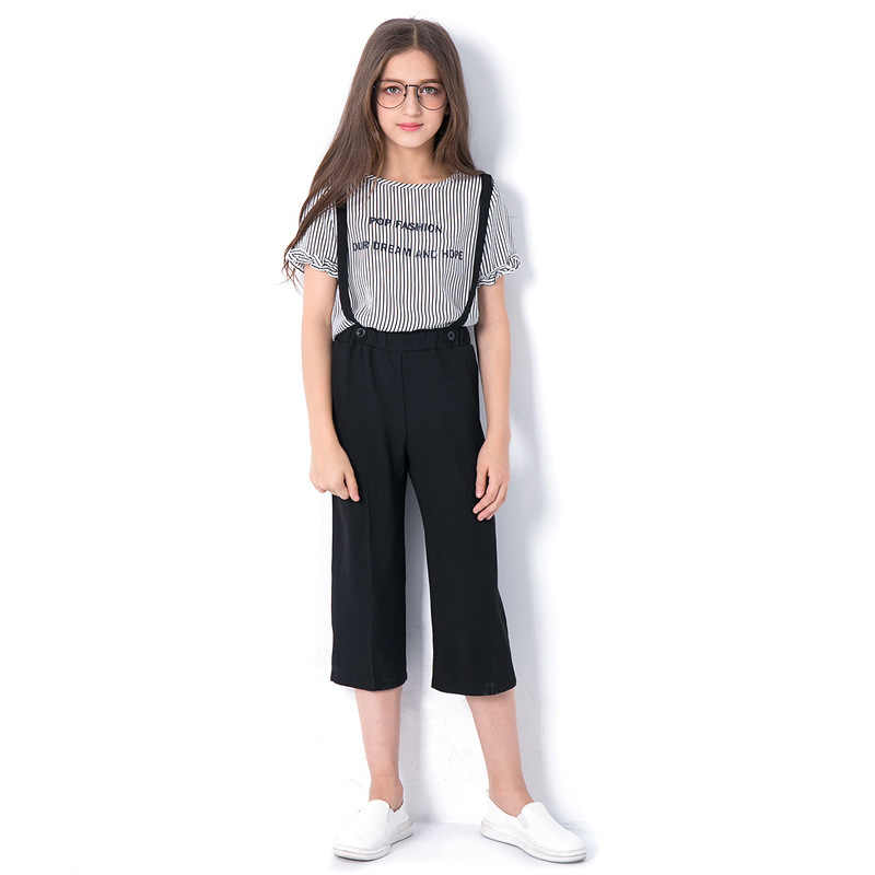 20e7723fded Chilren clothes Summer Teen Girls Clothing Set 6 7 8 9 10 11 12 13 14