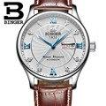 Suíça famosa marca relógio relógio de quartzo para homens relógios de negócios de luxo relógio de pulso de couro casual relógio binger relogio mascu