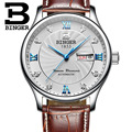 Suiza famosa marca de reloj de cuarzo para los hombres de negocios relojes de lujo binger reloj del cuero casual watch relogio mascu
