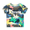 T-shirt Boy Camo Letter Children T Shirts Summer O-neck Short Sleeve T-shirt Kids Casual Kids Clothes 2421