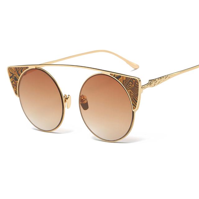 New trend rodada cat eye óculos de sol das mulheres designer de marca de luxo 2017 óculos Polarizados Condução Óculos De Sol para Homens UV400 Gafas de Sol