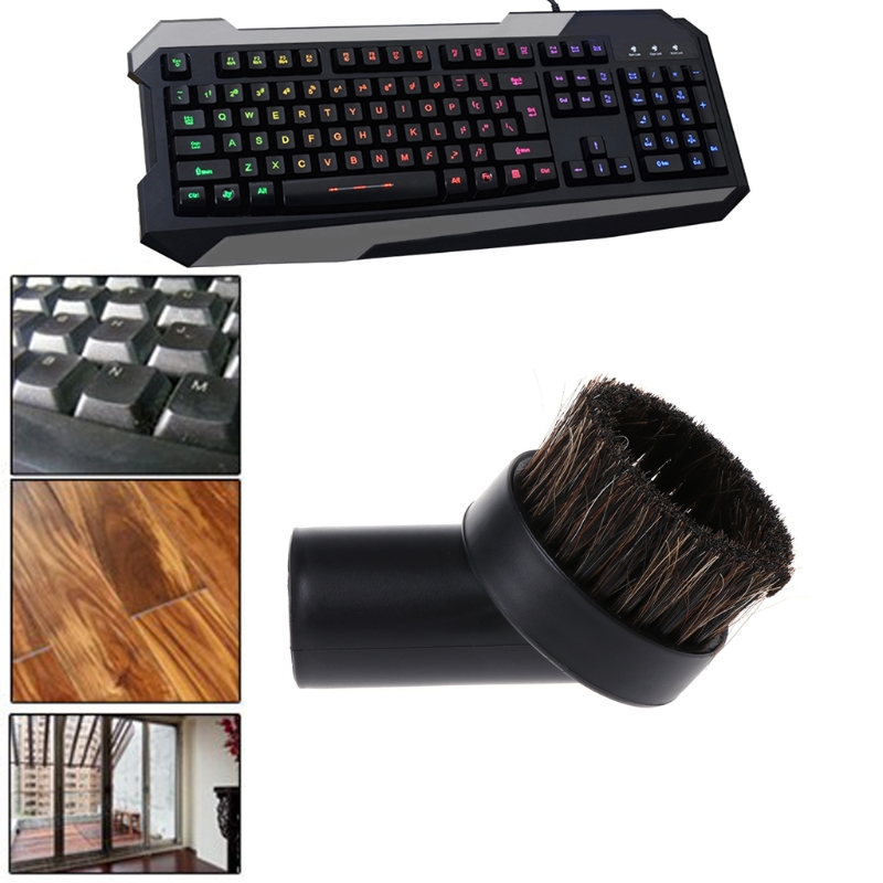 32mm Mixed Horse Hair Round Cleaning Brush Head Vacuum Cleaner Accessories Tool стоимость