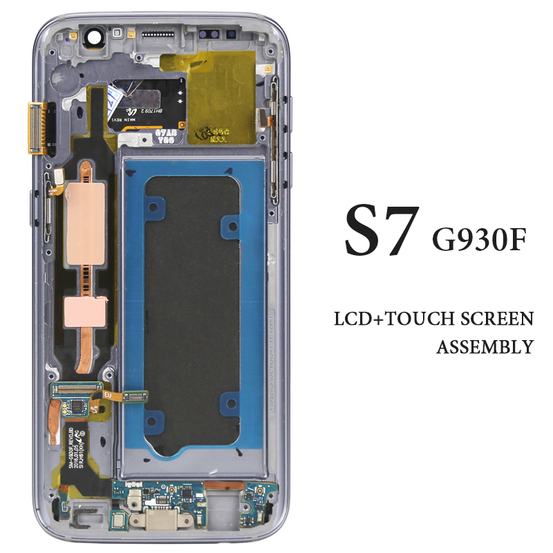 G930 G930A G930V G930F Touch Screen For Samsung Galaxy S7 LCD Display With Frame AMOLED Pantalla Phone Replacement Spare Parts  G930 G930A G930V G930F Touch Screen For Samsung Galaxy S7 LCD Display With Frame AMOLED Pantalla Phone Replacement Spare Parts