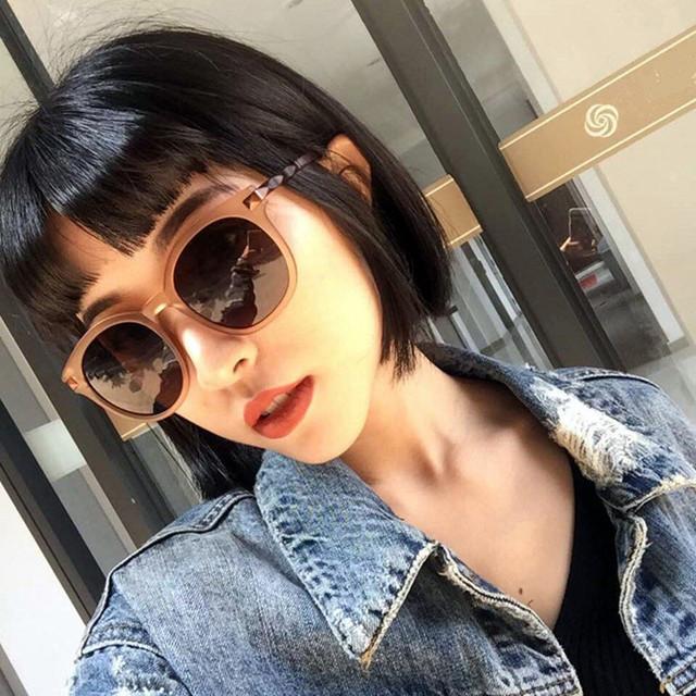 New Arrive Round Sunglasses Women Brand Designer Summer Beach Driving Sun Glasses Fashion Summer Gafas Feminino Oculos De Sol
