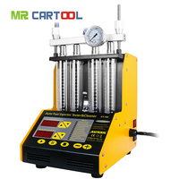 AUTOOL CT150 Fuel Injector Cleaning Machine Testers 4 Cylinder Ultrasonic Common Rail Injector Tester Repair Kit Cleaner Tool