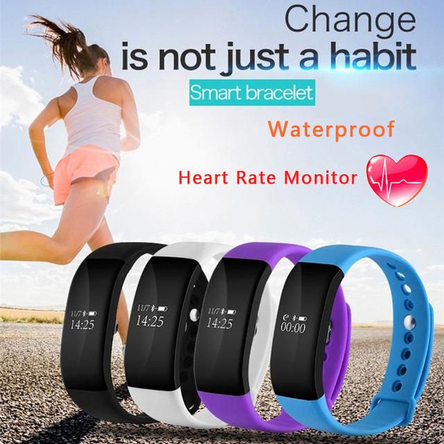 Teamyo smartwatch bluetooth heart rate monitor de esporte banda inteligente ip68 à prova d' água pulseira inteligente lembrete de chamada para iphone android