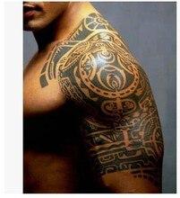 1lot=1pcs Arm +1pcs Chest Waterproof Tattoo Stickers Cx-20 21 Prothorax Twinset Big 3d Tatoo Stickers Men