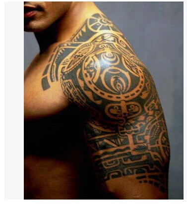 1lot=1pcs arm +1pcs chest waterproof tattoo stickers cx-20 21 prothorax twinset big 3d tatoo stickers men arm compass geometrical pattern creative tattoo stickers accessory