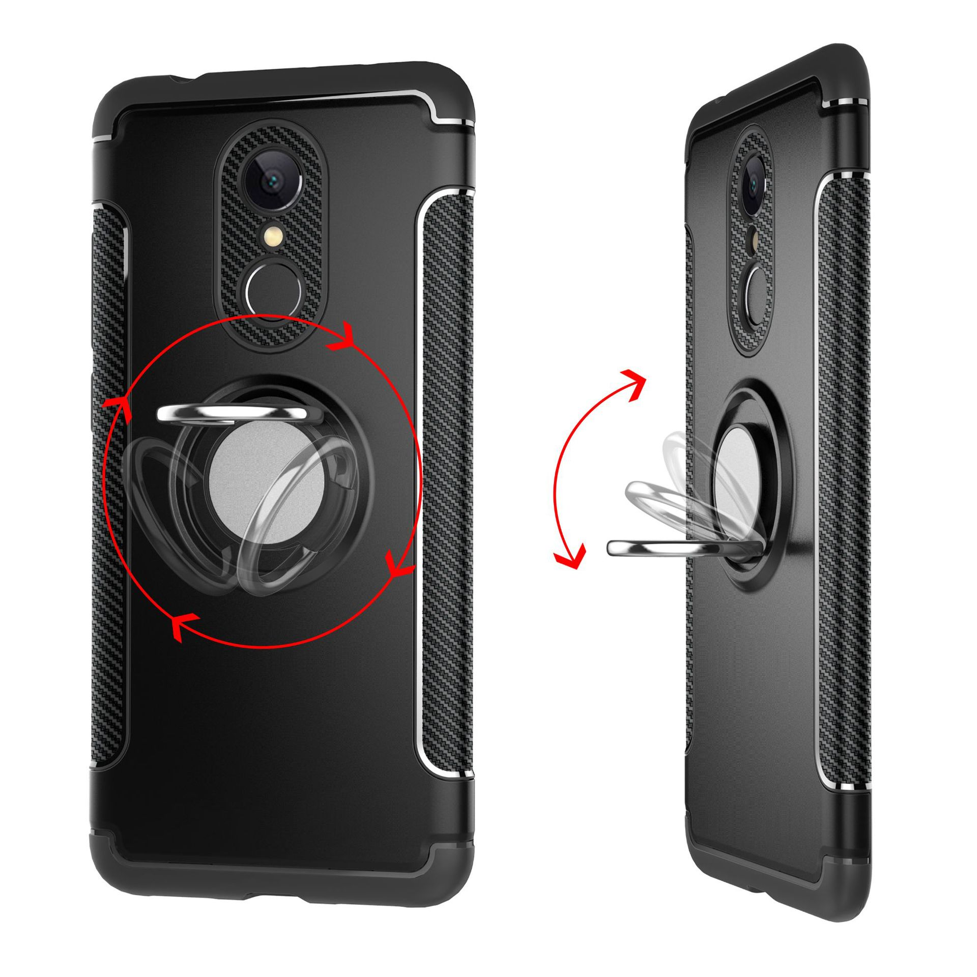 Image 5 - Shockproof Phone Case cover For Xiaomi  6 6X For Redmi Note 5 4X Hybrid Magnetic Bracket Cover car Ring Holder Cover TPU-in Flip Cases from Cellphones & Telecommunications