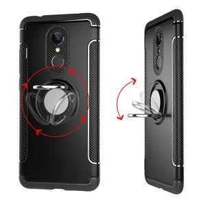 Image 5 - Shockproof Phone Case cover For Xiaomi  6 6X For Redmi Note 5 4X Hybrid Magnetic Bracket Cover car Ring Holder Cover TPU