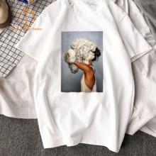 New Harajuku Aesthetic Fashion Short Sleeve Pure TShirt Surreal Artwork Printed Top