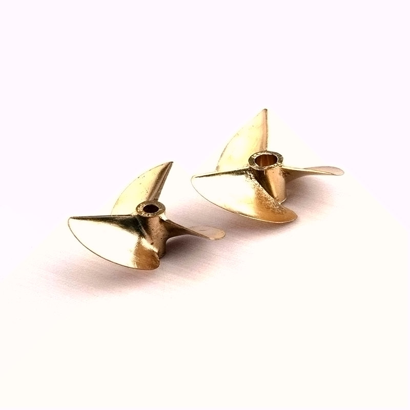 RC boat metal precision die-cast bronze 3-blade propeller 3.17mm 4.76mm diameter pitch 1.4