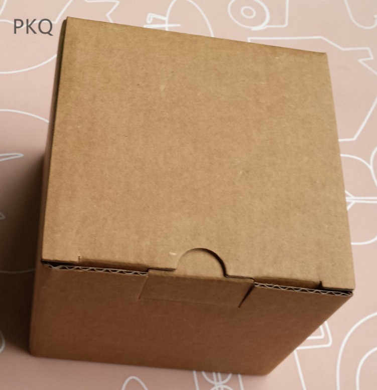 20pcs Brown Corrugated Paper Box Small Courier Packaging Box Cardboard Carton Glass Cup Packaging Boxes 9x9x7.6cm