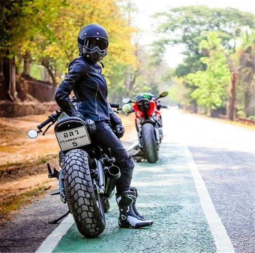 Moto Casque ouvert Visage Moto Casque Personnalité Moto Casque Capacetes De Motociclista Pour Hommes Et Femmes