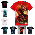 Alta Qualidade 3D Shadow Fiend DOTA Terrorblade Morphling 2 T-shirt Legal sf juggernaut t shirts menino dos homens dota2 kael hero tee camisa