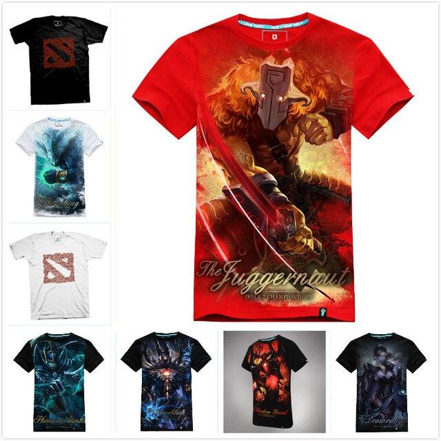 High Quality 3D DOTA 2 T-shirt Cool Morphling Terrorblade Shadow Fiend SF Juggernaut T shirts Men Boy DOTA2 Kael Hero Tee Shirt