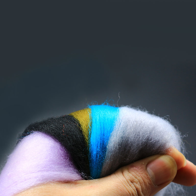 11 color assortment thin type Glow bug fly tying material egg yarn