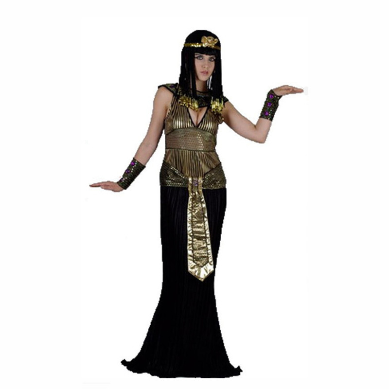 Adult Men Women Festival Costume Egyptian Pharaoh Costumes Halloween Party Egypt Princess Cosplay Fancy Dress Clothing