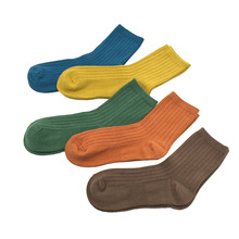 2 Pairs Men Socks Set Candy YeGreen Orange Colorful Socks Male Men's Clothing Accessories Cotton Winter Warm Man Crew Socks Pack