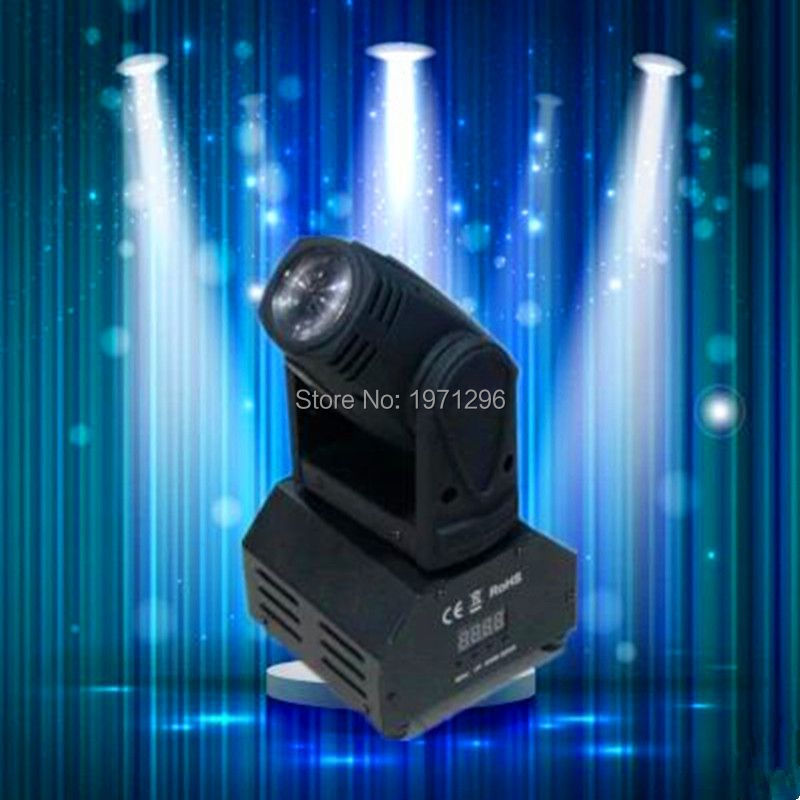 ФОТО Fast shipping high quality  Mini LED 10W RGBW Beam moving head light beam dj light mini led factory directly sale Free Shipping
