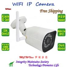 Security RTSP WIFI 1080P 960P 720P IR CCTV Camera Outdoor Bullet ONVIF Night View Reset P2P IP Cam Network 64G TF Card Monitor