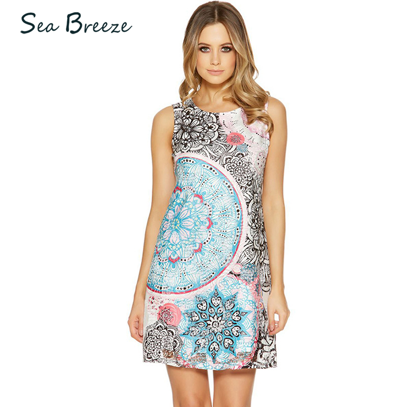 Sea Breeze Autumn New Women O Neck Sleeveless Tank Print