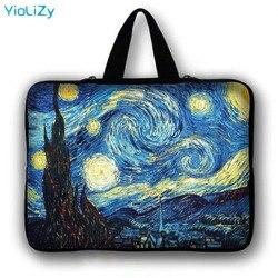 Van Gogh print Tablet Torba Na Laptopa Notebooka pokrywa 7 10.1 12 13.3 14 15.4 15.6 17 cal Ultrabook pokrowiec LB-24818