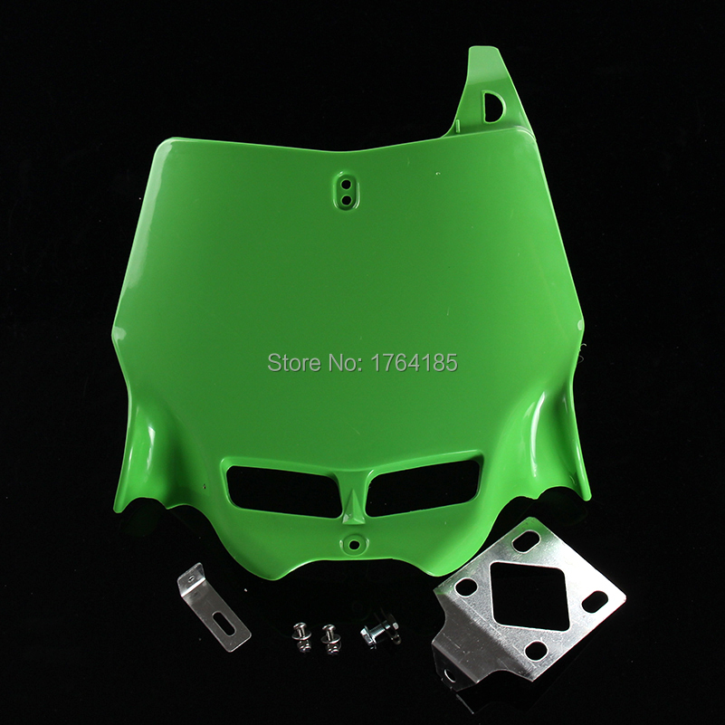 free shipping green Universal 250CC 450CC Dirt Pit Bike MX Motocross refitting front Number Plate