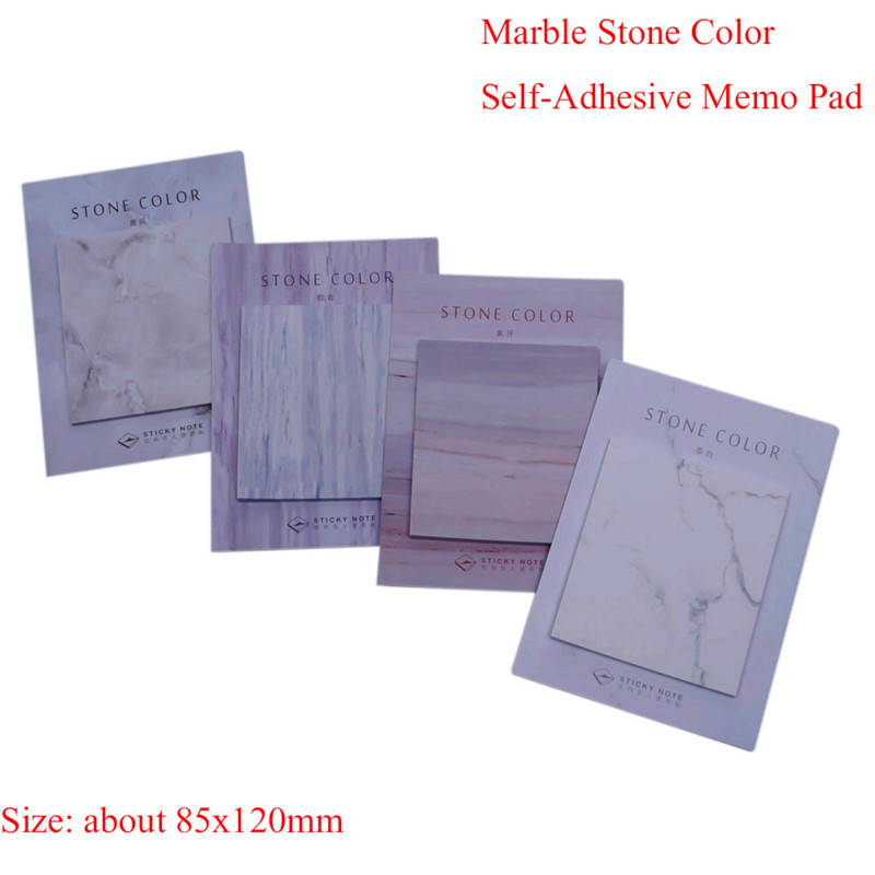 30 Pages Self-Adhesive Marble Stone Memo Pad Sticky Note Post Office Planner School supplies paper sticker