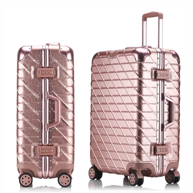 20242629 Aluminum Alloy Trolley Carry On Luggage Fashion Travel Cabine TSA Lock Koffer Mala de Viagem Sliding Suitcase20242629 Aluminum Alloy Trolley Carry On Luggage Fashion Travel Cabine TSA Lock Koffer Mala de Viagem Sliding Suitcase