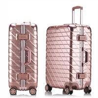 20''24''26''29'' Aluminum Alloy Trolley Carry On Luggage Fashion Travel Cabine TSA Lock Koffer Mala de Viagem Sliding Suitcase