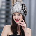 Mink hair hat female thermal thickening knitted fur fox fur toe cap hat covering female winter