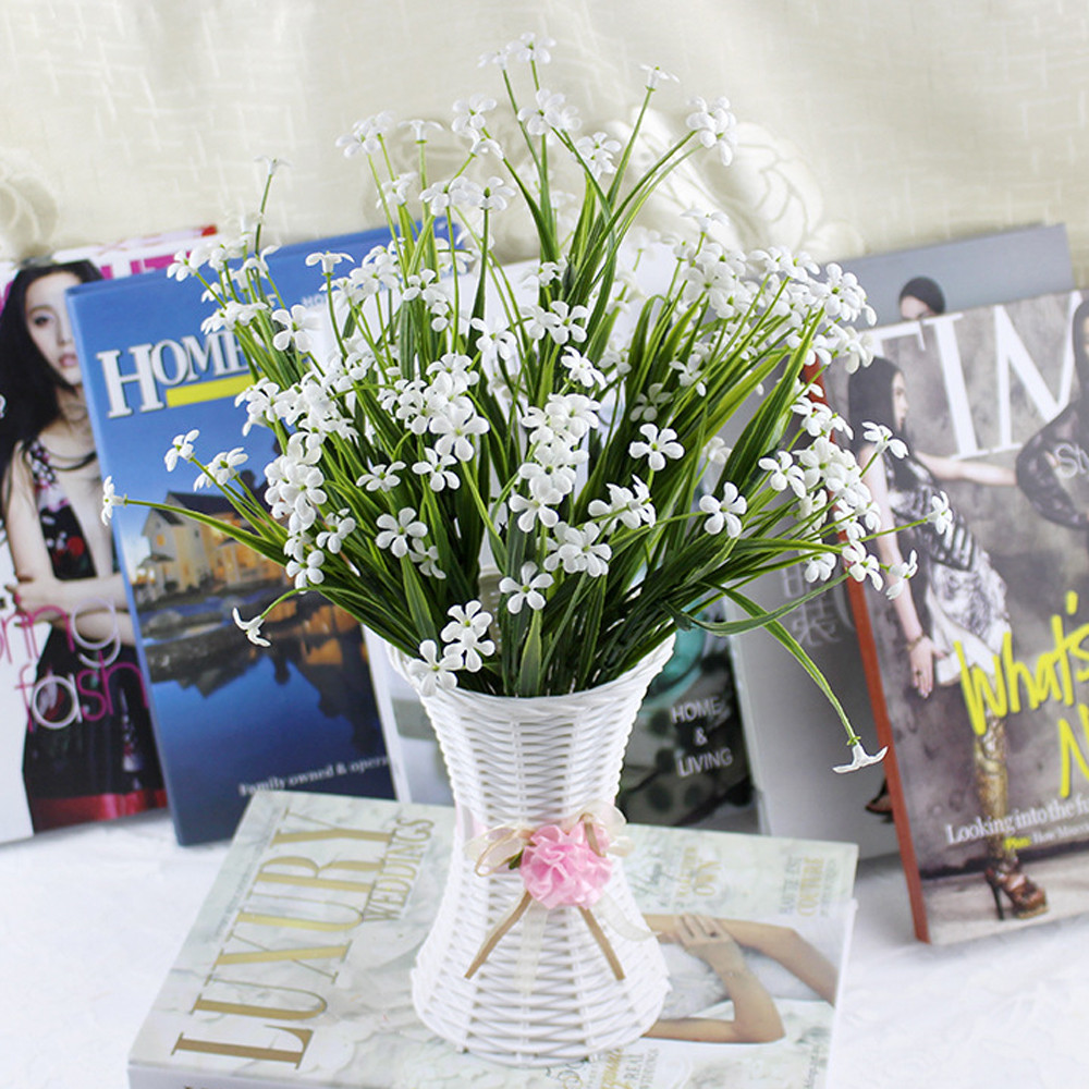 Home Decor I: 1pcs Small Vase Home Decor Nice Rattan Vase Basket Flowers