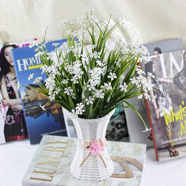 1pcs Small Vase Home Decor Nice Rattan Vase Basket Flowers Meters Orchid Artificial Flower Set 4 Colors & 1pcs Small Vase Home Decor Nice Rattan Vase Basket Flowers Meters ...