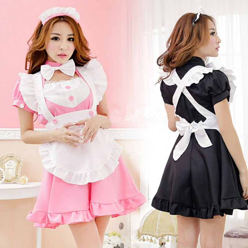 Sexy French Maid Costume Sweet Gothic Lolita Dress Anime -1176