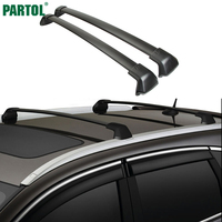 Partol 1 Pair Black Side Rails Car Roof Rack Cross Bars Crossbars For Honda CRV 2012