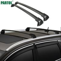 Partol 1 Pair Black Side Rails Car Roof Rack Cross Bars Crossbars For Honda CRV 2012