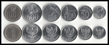 6 Pcs Set Coins of Indonesia