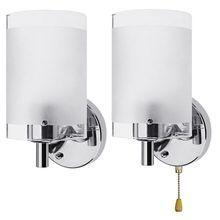 Lâmpada de parede AC85 265V e27 led, moderna, decorativa, de vidro, lâmpada de arandela